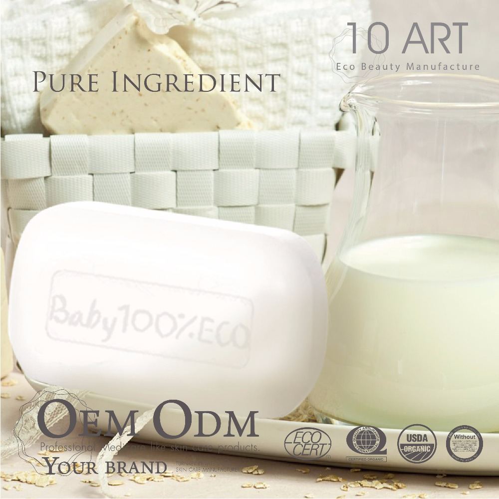 Private Label Bar Soap Goat Milk Body Whitening Baby Soap