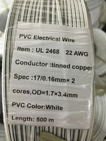 UL approve 2468 wire PVC insulation copper stranded for electric wire 22 AWG