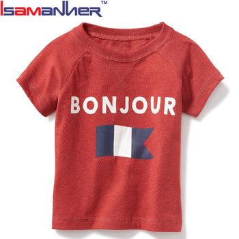 Custom 100% Algodão Bebê Roupas Boutique Plain Camisas Da Criança ... c16cac6f24aa3