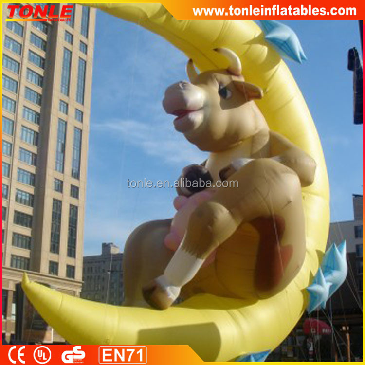 Hot sale Inflatable Cow Jumped over the Moon, 45ft/Advertising inflatable Balloon