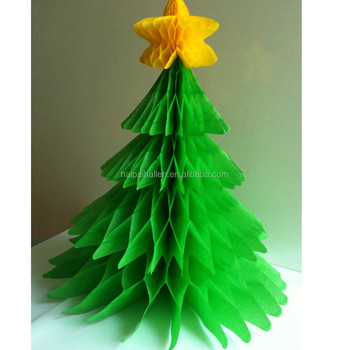 """Festive Classic paper Christmas Tree Party 6"""" Honeycomb Table  Decorations - Festive Classic Paper Christmas Tree Party 6"""