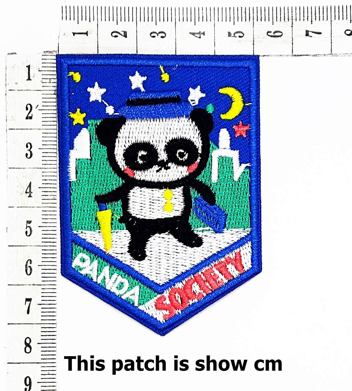 07ea2a237 Get Quotations · Panda Society Travel in The City Moon Star Animals Zoo  Cartoon Chidren Kids Embroidren Iron Patch