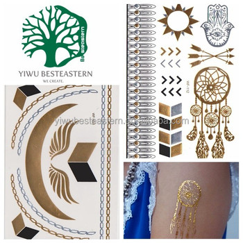Most popular gold and silver Temp Tattoos