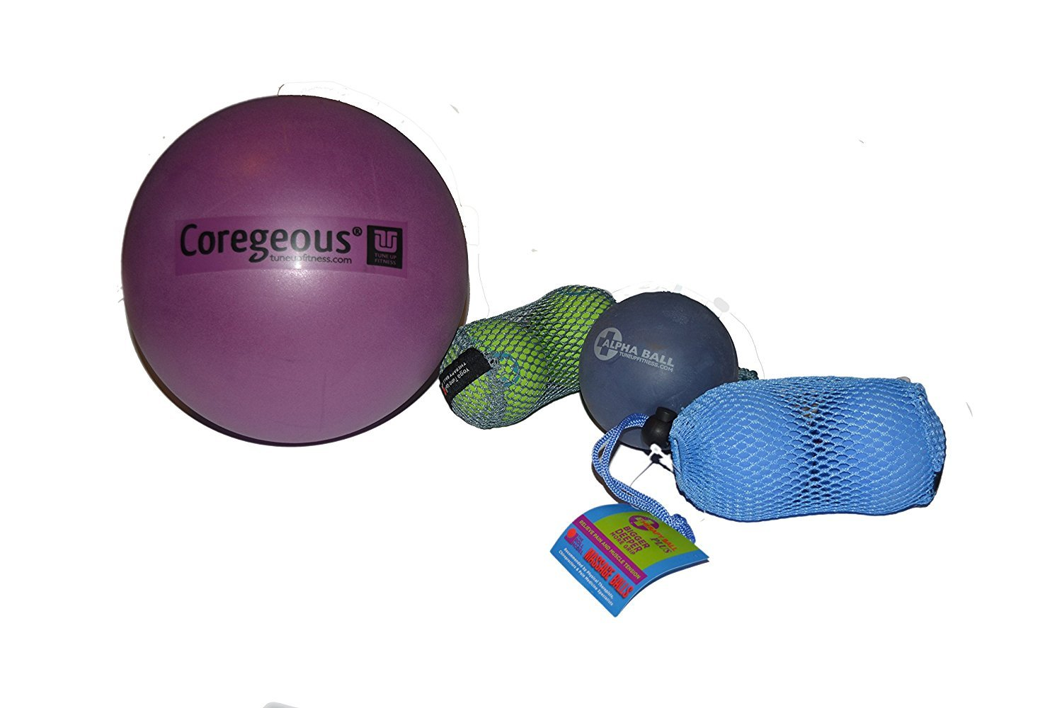 Yoga Tune Up Set of Various Ball Sizes and Colors - original tune up balls, PLUS balls, ALPHA ball and Corgeous Ball With coupon via email for 20% off any Simply Essential Solutions item