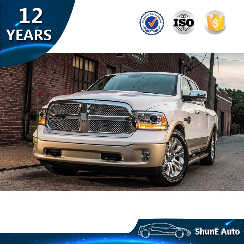 High Quality Abs Chrome Front Grille For Ram 1500 2500 2017 Per Cover Grill Hood Protect 4x4 Car Accessories