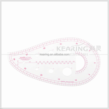 China kearing direct manufacture 60cm metric Plastic Templates Ruler,Drawing Stencil,pattern master making ruler fabric #6460