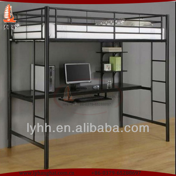 Univercity Dormitory Metal Loft Beds With Computer Desk