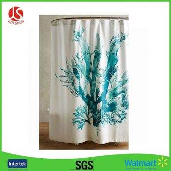 Jonsun 100 Cotton PEVA With Matching Window Curtain Country Shower Curtains