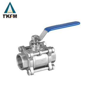 1 1/2 inch high pressure stainless steel 3pc full port ss 316 ball valve with ISO 5211 mounting pad