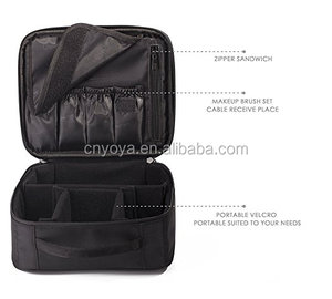 5cac722f0156 Portable Makeup Train Case,Cosmetic Organizer Kit Make Up Artist Storage  for Cosmetics, Makeup Brush Set