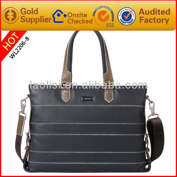 LAOLISI business men office bags design all name brand handbag leather