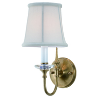 New Village Simple Brass And Crystal Wall Lamp Retro Bedroom Corridor Light