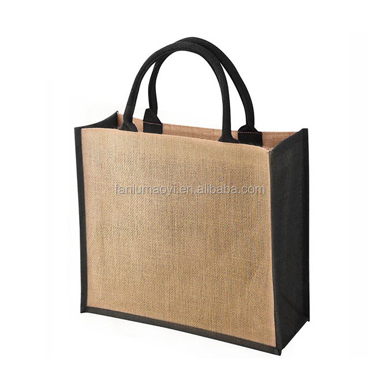 Custom Wholesale Manufactures Jute Shopping Bag Indonesia