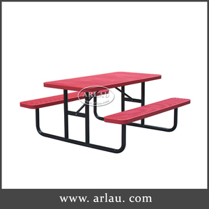 Arlau Outdoor Steel picnic tables and park benches