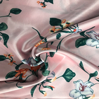 Hot selling popular floral polyester printed satin fabric
