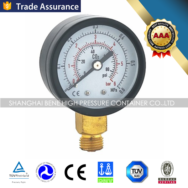 regulator accessories brass suction pressure gauges with cover and without cover