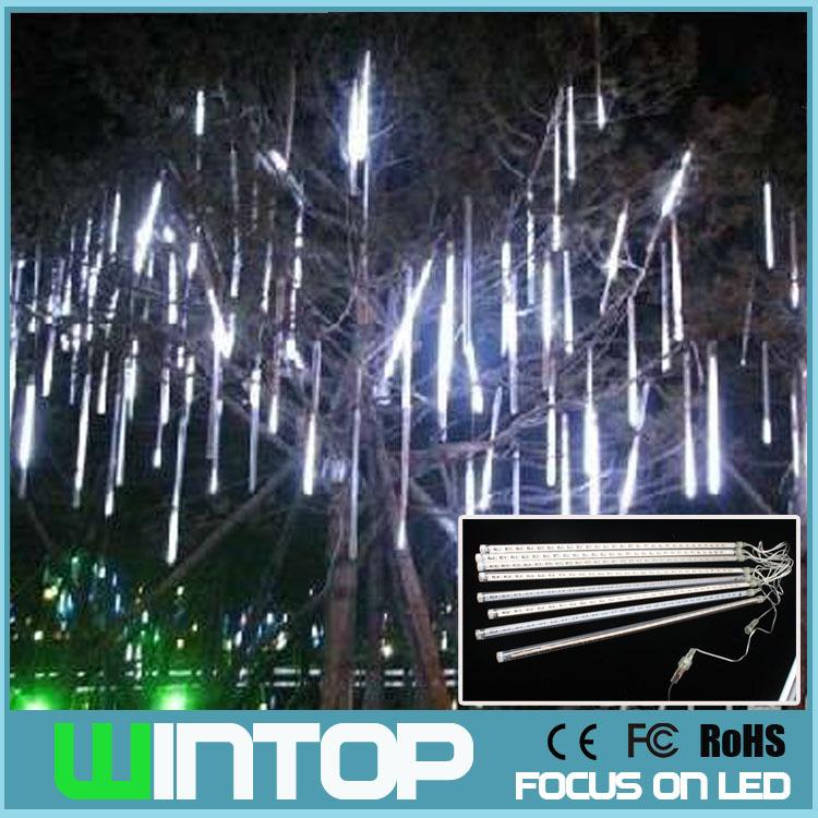 50CM 100V~240V LED Meteor Tube Romantic Meteor Shower Rain Tubes Christmas