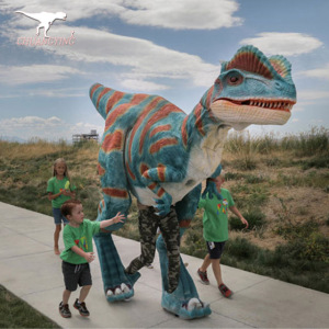 Amusement Park adult realistic dinosaur costume walking dinosaur costume