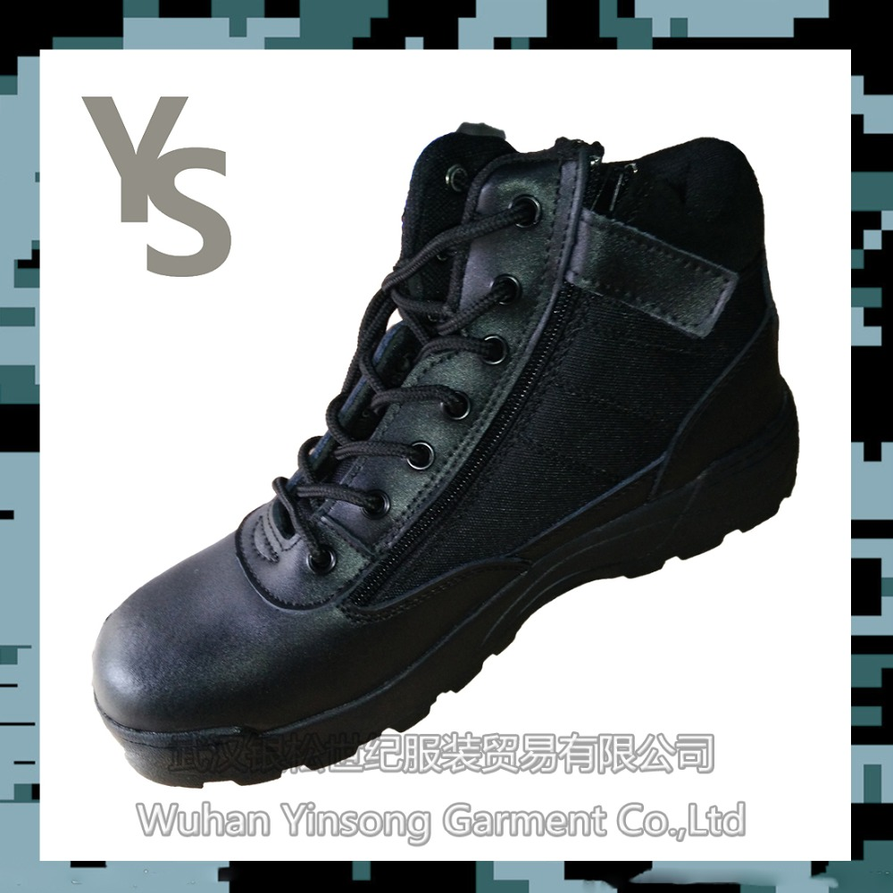 [Wuhan YinSong]All OEM/ODM welcomed hot sale genuine leather black Panama outsole military boots