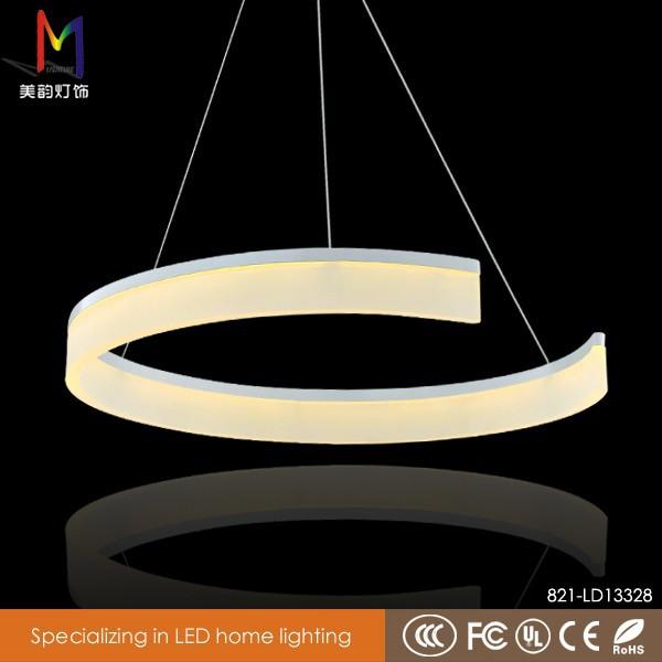 moderne circulaire lampe led led contemporain changement de couleur ronde acrylique lustre. Black Bedroom Furniture Sets. Home Design Ideas