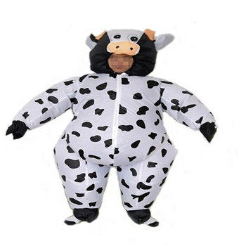 Funny Inflatable Fat Costume Adult Mascot Costume Inflatable Cow Costume For Adult