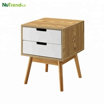 Multifunctional wooden bed side table end table KD furniture with drawers