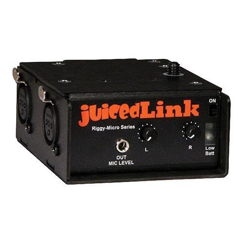 JuicedLink Riggy-Micro Dual-XLR Preamplifier with Phantom Power