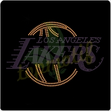 Lakers basketball logo rhinestone applique
