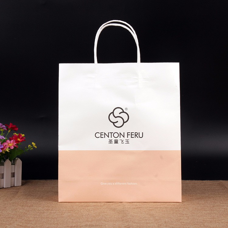 promotional gift printed craft paper bag recycled raw materials of paper bag cheap custom paper bag