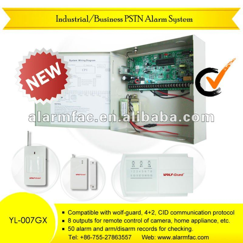 "Eight languages!!!""!Wireless Business landline intelligent phone alarm system (YL-007GX-8/16)/viper auto alarm systems"