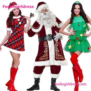 1303db92a0a Wholesale High Quality 2017 Plus Size Mother Father Wear Christmas Costume