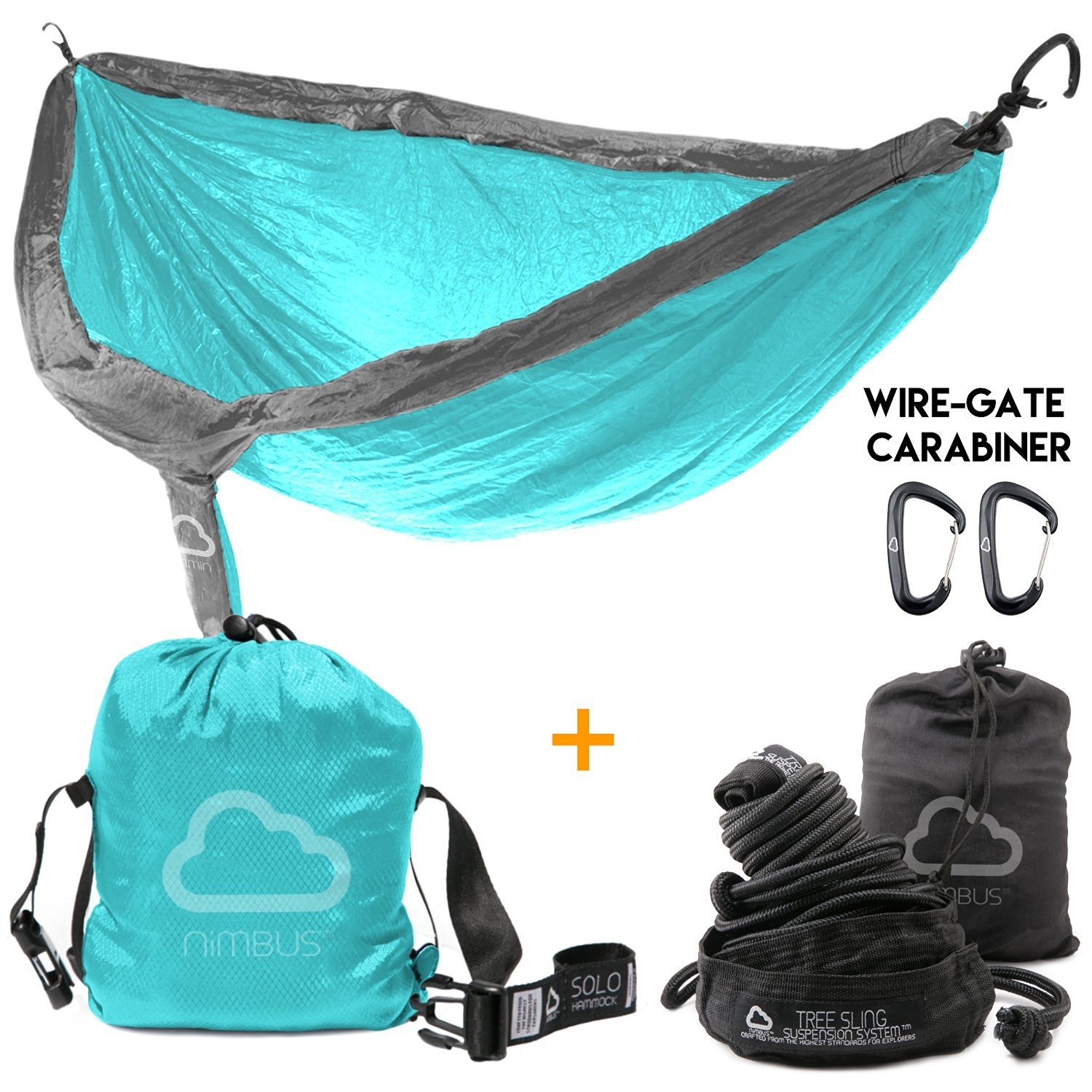 HOLIDAY SALE!!! Ends Today! - Outdoor Camping Nylon Hammock with Suspension Kit & Premium Carabiner [Complete Hammock Set] - Designed in USA | Top Rated | Built to Last | by Nimbus Hammock
