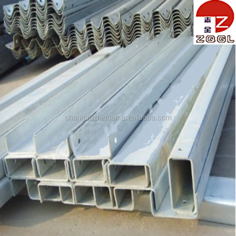 Galvanized square shape steel fence post