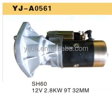 12V 2.8KW 9T 32MM Sumitomo SH60 Starter motor for Excavator Made in china