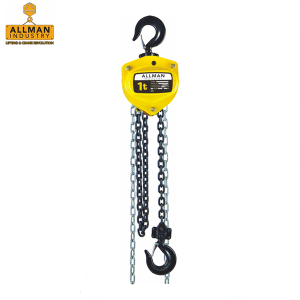 ALLMAN hot sales HSZ series 0.5ton up to 20ton hand chain pulley block