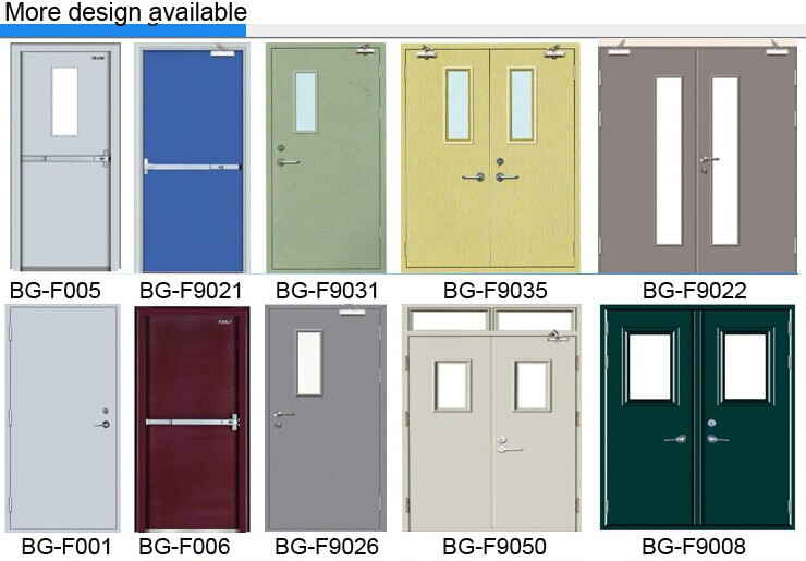 Bg-f9069 Fire Rated Aluminum Door Frames/wooden Fire Door/steel Fire Door  With Panic Push Bar - Buy Steel Fire Door With Panic Push Bar,Wooden Fire