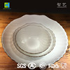 New designs opal glassware shell plate opal glass dinner plate