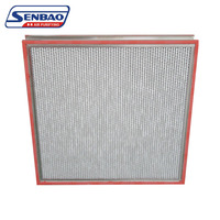Stainless Steel Frame High Temperature Hepa Filters, Air Purifier Filters with Aluminum Foil