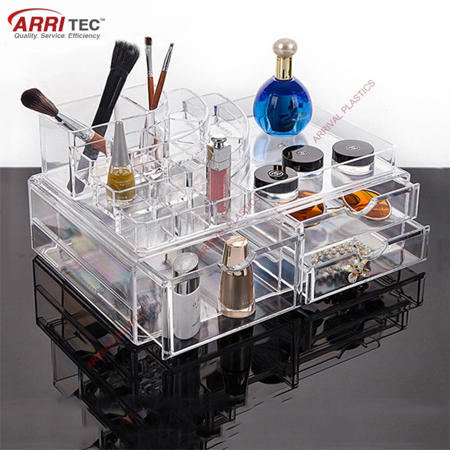 Large Acrylic Makeup Organizer Cosmetic Storage Jewerly Display Box