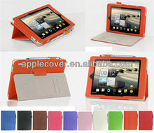 folio flip leather case cover for Acer A1