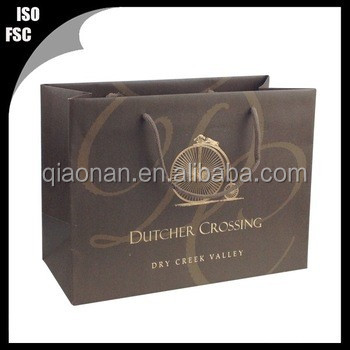 FREE SAMPLES!!! C2S art paper bag printed, customized paper bag with your logo
