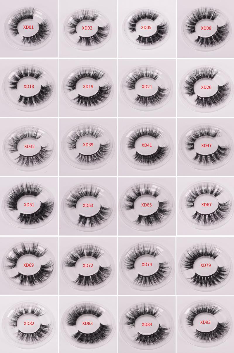 Private label eyelashes luxury long natural 3D mink 25mm eyelashes