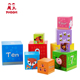 New 10 pcs children educational toy animal kids stacking nesting box cube for toddler