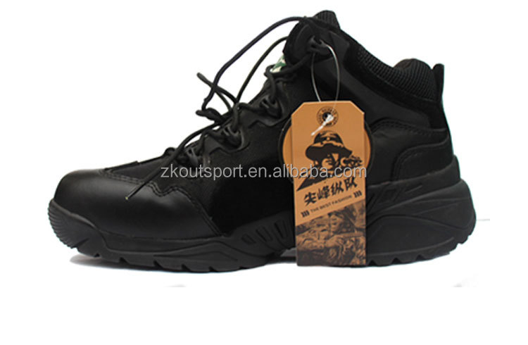 factory wholesales military waterproof suede combat boots