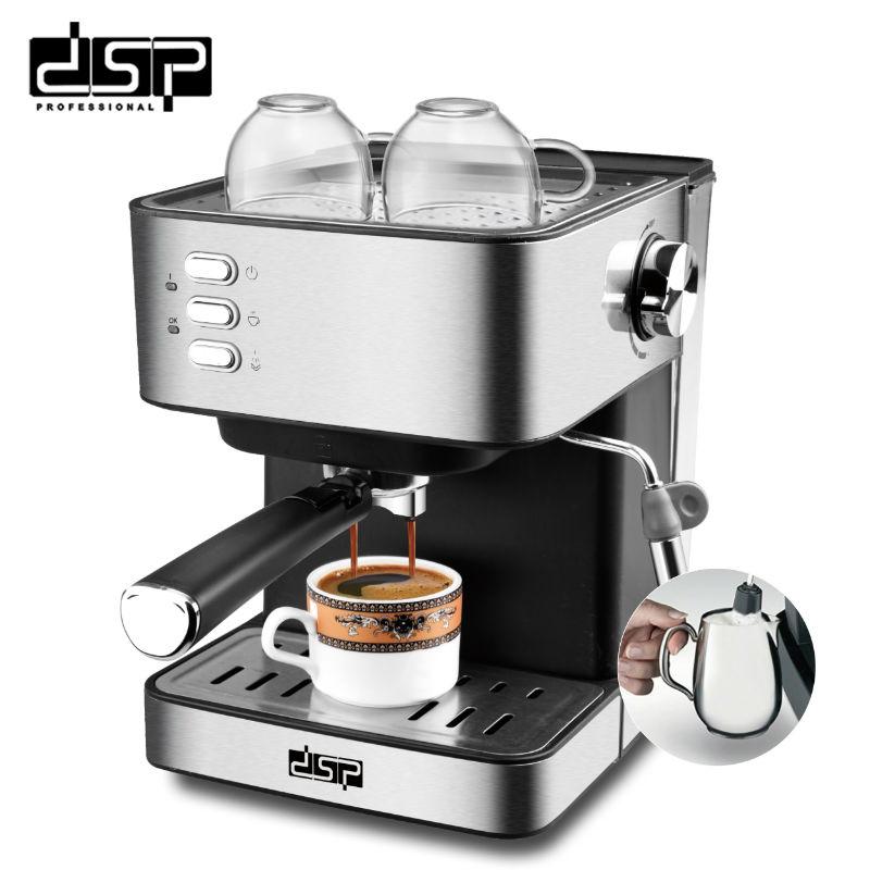 DSP Полуавтоматическая кофеварка из нержавеющей стали Эспрессо, полностью функциональный домашний дисплей, полный контроль температуры(Китай)