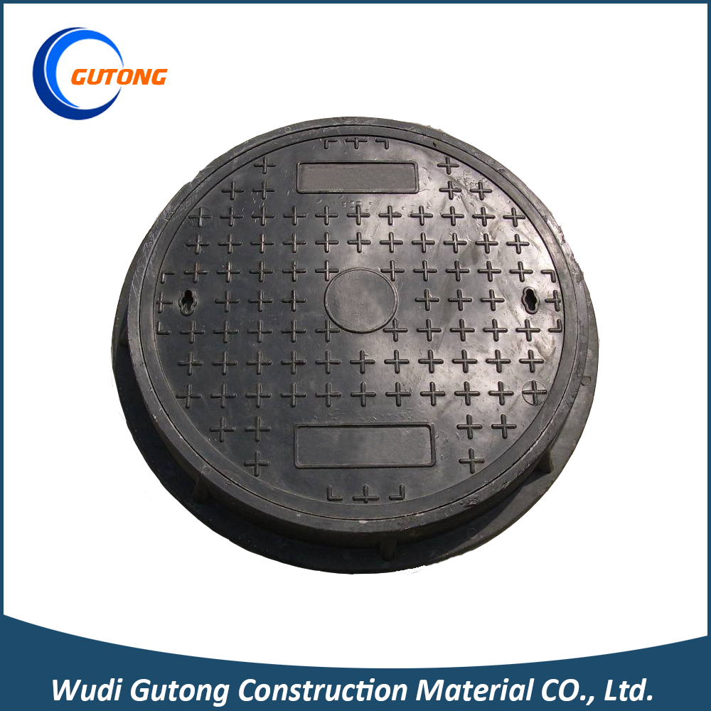 FRP Dia 600mm Locked Manhole Covers Water Meter Box with Frame