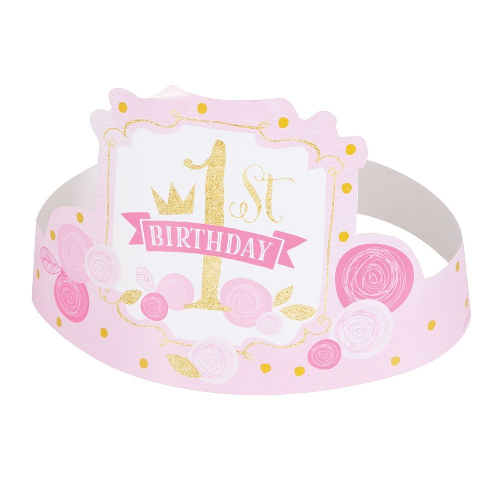 Pink And Gold 8th Birthday DecorationsNumber 8 Cupcake Toppers 6CT