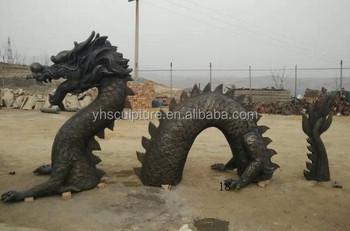 Bronze Dragon Garden Statues