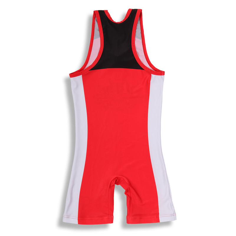Custom made100% polyester sublimated camo mens wrestling singlet