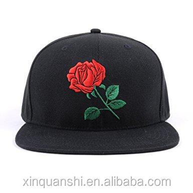 939da7535d5 custom Rose Snapback Hats Women Men Adjustable Baseball Caps new fashion  snap back cap hip hop cap